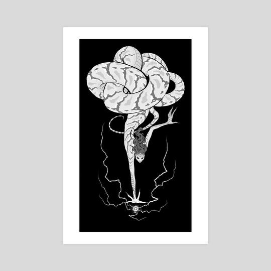 Lissah's Orb - Black & White by Karen Rohan