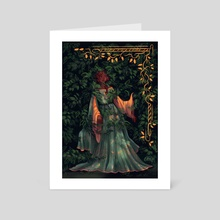 Lady in the Leaves - Art Card by Luna Willems