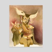 Moth Midwife - Canvas by Tanya Puzikova