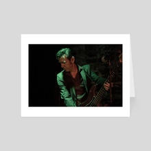Bass Player II - Art Card by Andreas Troeger