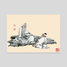 Chinese Figure - 1 - Canvas by River Han