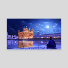 The Golden Temple - Canvas by Surendra Rajawat