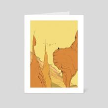 Safe From Harm - Art Card by Martin Millar