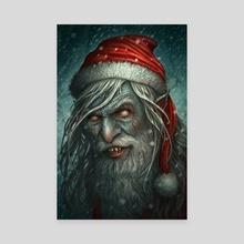 Bad Santa - Canvas by Kerem Beyit