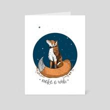 Fox wish - Art Card by Asia Swiatek