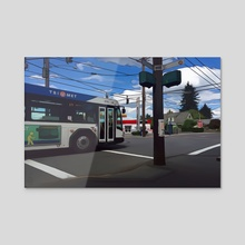 SE 72nd and Harold - SE Portland, Oregon - Acrylic by Jason Pedegana