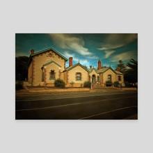 Goolwa Police Station - Canvas by Alan Carson