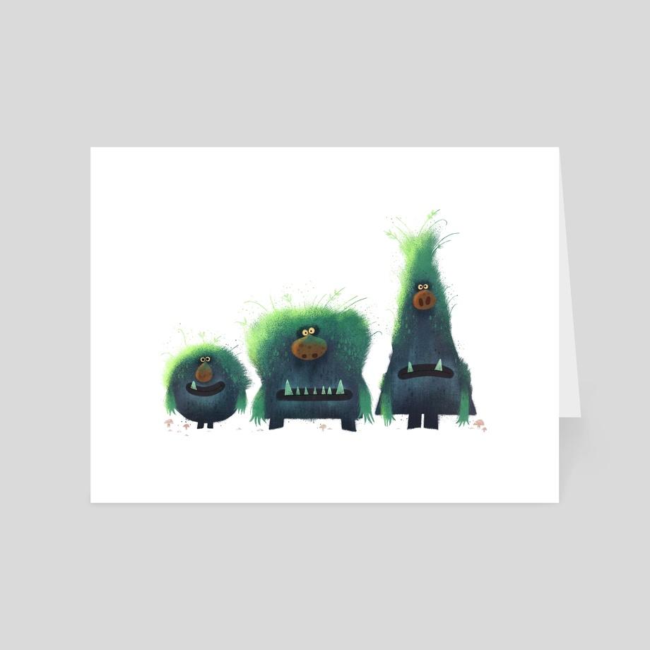 Rock Troll's, an art card by Nikolas Ilic