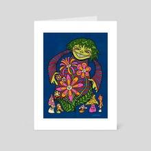 MISCHIEVOUS FLOWER GIRL - Art Card by KRABSNAX