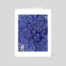 Blue Jungle  - Art Card by Michele  Girgenti