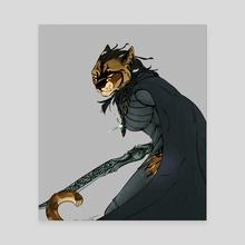 The Dragonborn - Canvas by Fwishbone