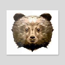 Bear Cub Face - Brown - Acrylic by Emanuele Califano Lidak