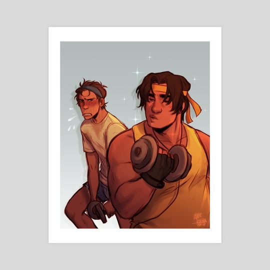 Hunk and Lance at the Gym by Viera Boudreau