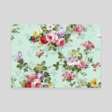 Floral Design Pattern - Canvas by Sofia Katsikadi