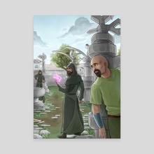 Dark Wizards near Varrock - Canvas by Dagna