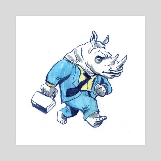 Rhino Businessman by Cool Characters