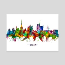 Turin Italy Skyline - Canvas by Towseef Dar