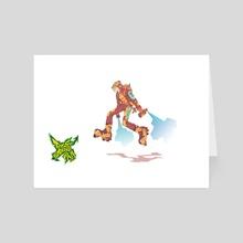 JETSETRADIO fan art - A - Art Card by Guillermo Talbott