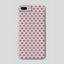 Bumblebee Pattern - Lavender - Phone Case by Sara Kuba