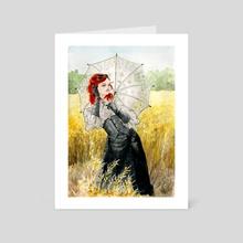 Miss Steampunk - Art Card by Julien Cachemaille