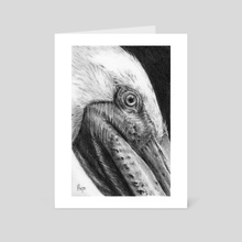 Brown Pelican - Art Card by Hope Martin