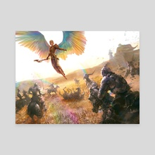 Iridescent Angel - Canvas by Ryan Lee