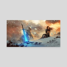 Winter Landscape - Canvas by Grzegorz Rutkowski