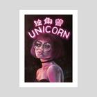 Unicorn - Art Print by Creamy Existence