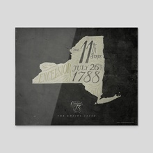 New York: The 11th State - Acrylic by The Union Archive