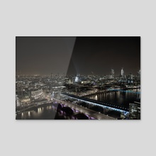 London by night 2 - Acrylic by Daniel Yeates