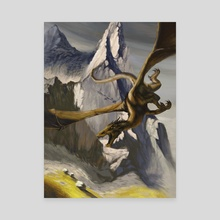 Dragon II - Canvas by Candra Hope