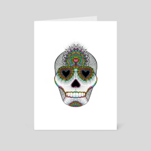 Skull Love - Art Card by Luna Portnoi