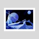 Blue Ice - Art Print by Frankie Smith