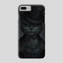 vampire cat - Phone Case by Ghostly Theater