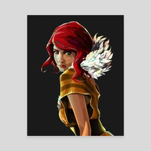 Red (Transistor) - Canvas by Tom Furber