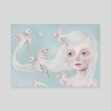 Fly Away - Canvas by Eda Herz