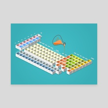 periodic table - Canvas by anil yanik