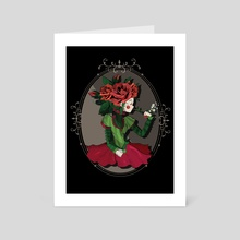 Head Full of Roses - Art Card by Karina Lopez