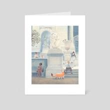 Fox in the city - Art Card by Chuck Groenink