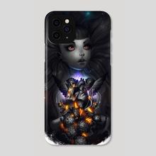 Black Hearth  - Phone Case by Zork Marinero