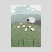REGULAR SHEEP FIELD - Canvas by Bern Lehtinen