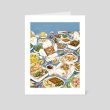 Charm City Chinese Feast - Art Card by Tomoka Murakami