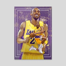 Kobe Bryant Tribute  - Acrylic by Nate Hudson
