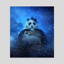 Meditating Panda - Canvas by Nick Oliveto