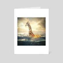 giraffe - Art Card by Even Liu