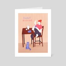 Morning - Art Card by Susann Hoffmann
