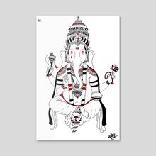 Ganesh - Acrylic by Stefano Mancuso