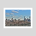 Through Central Park - Art Print by Angel Irun
