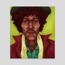 Jimmy Hendrix Dead Dopest - Canvas by Brian Oscar