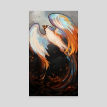 """Phoenix - Beauty from Ashes"" - Canvas by Jennifer Garrett"